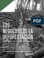 Los Negocios de La Deforestación