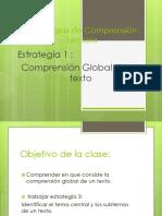 Estrategias de Comprensión Global de Un Texto