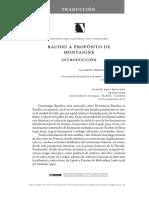 Baudio. a Propósito de Montaigne (trad. Raga)