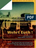 Kahni, Rainer - Wehrt Euch! Eine Streitschrift Gegen Willkür Und Unrecht (2013, 90 S., Text)