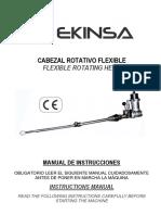 Cabezal Rotativo Flexible m 25