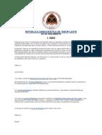 Constituição Da República Democrática de Timor Leste 2002