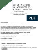 Concepto Hombre, Neurosis Salud