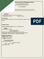 CV FORM
