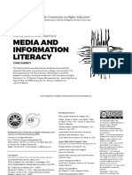 Media and Information Literacy TG