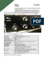 1 Testbericht OM2500 Final Version 2009-10-17 Wz