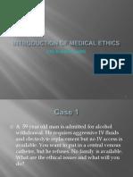 1 Hafizah Hoshni Introduction of Medical Ethics