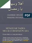 Ahlan Ya Ramadhan - Ustaz Ali Suparman