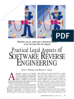 Practical Legal Aspects of Software Reverse Engineering