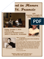 Concert in Honor of St. Francis flyer