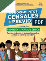 Autoidentificacion Étnica. CENSO 2017