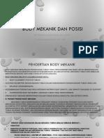 Body Mekanik Dan Posisi