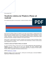 Trasferire Rubrica Da Windows Phone Ad Android
