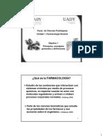 Objetivo 1 - FARMACOLOGIA Conceptos Generales y Definiciones