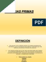 Clase 9. Materias Primas 2015