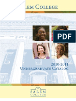 2010-11 Salem Undergraduate Academic Catalog