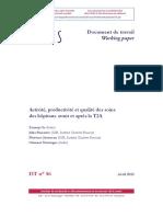IRDES 2012 - Activité, Productivité Et Qualité Des Soins Avant Et Aprèsla T2A