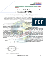 Two-Line Resolution of Shrink Apertures in