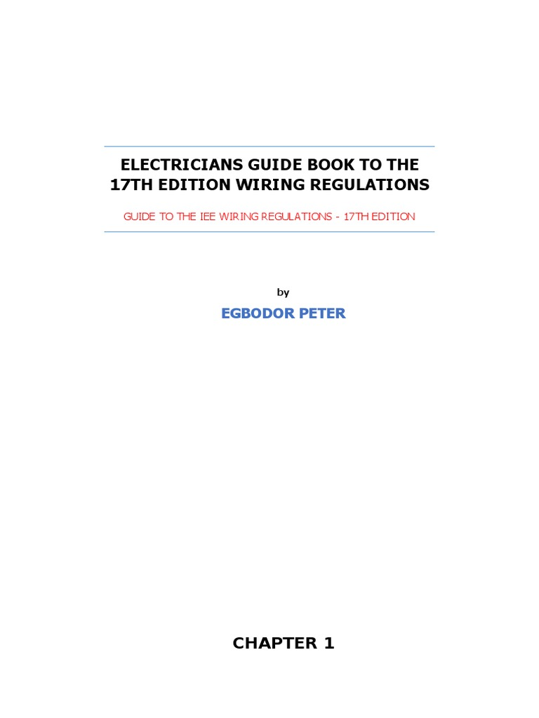 Electricians Guide Book to the 17th Edition Wiring Regulations (Autosaved)    Mains Electricity   Switch