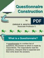 Questionnaire Construction 1