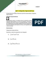 Actividad 3. Integrales Trigonométricas