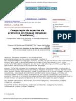 Comparação de Aspectos Da Gramática Em Línguas Indígenas Brasileiras
