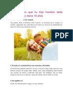 10 Lecciones Que Tu Hijo Hombre Debe Saber Cuanto Tiene 10 Años