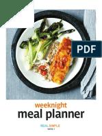 Week Night Meal Planner