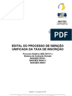 PS e SAS - Edital de Isencao Unificada Da Taxa de Inscricao