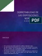 Derrotabilidad de Disposiciones Normativas