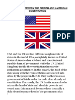 Difference Between Uk and Us Constitution