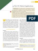 Wound Healing-part II. Clinical Applications.