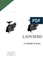Ladybird Cocktail Menu