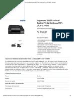 Impresora Multifuncional Brother Tinta Continua WiFi DCP-T700W - Infordata