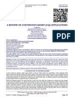 A REVIEW OF CONTINUOUS QUERY (CQ) APPLICATIONS