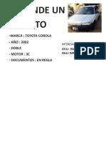 Se Vende Un Auto