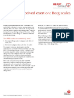 Rating of Perceived Exertion - Borg Scale
