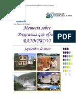 banprovi - Memoria 2009