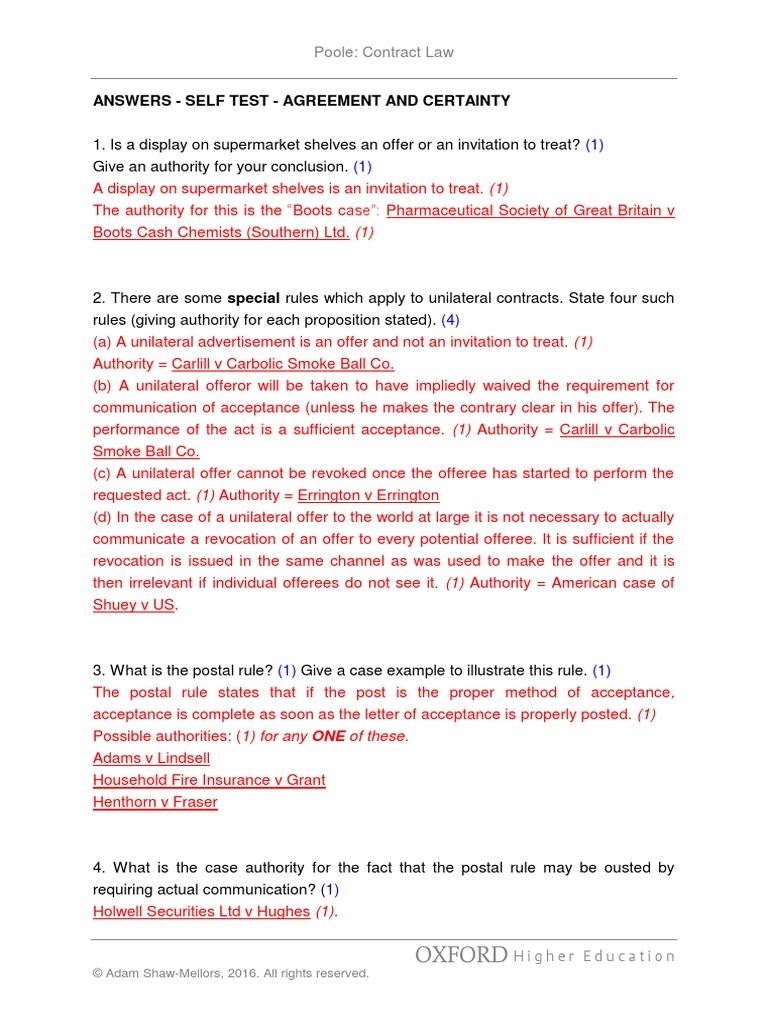 Poole13e answers agreement offer and acceptance civil law legal poole13e answers agreement offer and acceptance civil law legal system stopboris Images