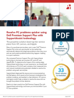 Resolve PC problems quicker using Dell Premium Support Plus with SupportAssist technology