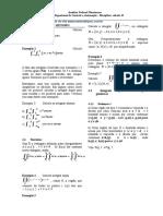 Atividades de Volume - Integral Dupla