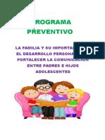 Cuadernillo de Programa Familia