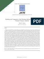 Modeling and Computation of the Maximum Braking Energy Speed