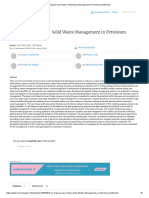 A Typical Case Study_ Solid Waste Management in Petroleum Refineries