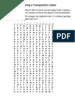 Breaking Tranposition Cipher