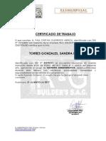Certificado de Trabajo Sandra Pilar