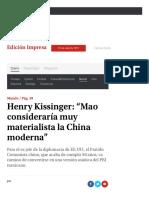 Henry Kissinger Mao