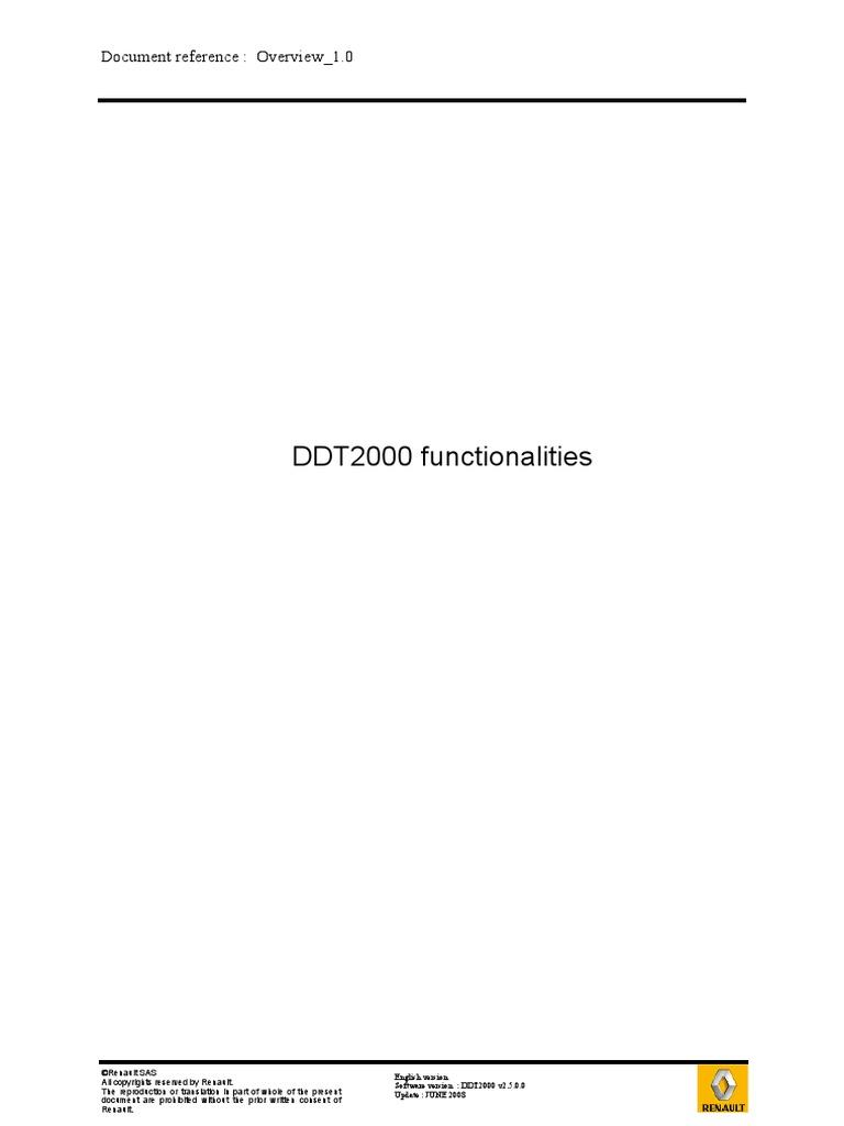 renault ddt2000 diagnostic tool download