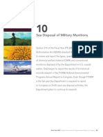 DoD Report to Congress on Sea Disposal of Munitions
