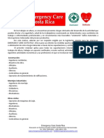 Osha Cumplimiento Normativa Total en Alturas Emergency Care Costa Rica